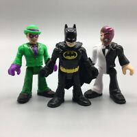 "Lot of 3 Fisher Price Imaginext Batman The Riddler Two-Face 2.5"" Figures"