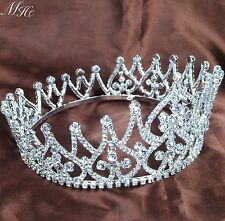 Beauty Contest Round Crowns Rhinestones Crystal Tiaras Pageant Engagement Party
