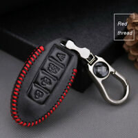 For Nissan series 4 buttons smart remote key case holder cover fob Red thread