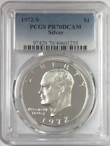 1972-S  Eisenhower Ike Silver Dollar PCGS PR0-70 DEEP CAMEO