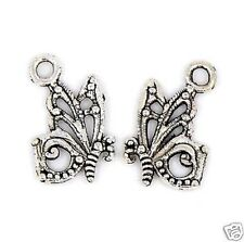 20 Tibetan Silver Butterfly  Pendant Charms  17m x 10mm