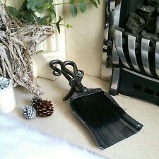 Small Black Steel Fireside Companion Set Shovel Brush Hearth Display Crook Top