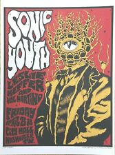 """Sonic Youth City Hall Nashville paper art poster 