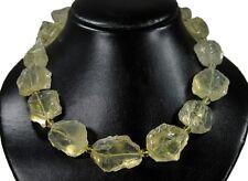Pietra preziosa catena da lemonquarz rohsteinen in forma di grandi Nuggets lmq01k-298