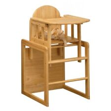 East Coast Nursery Combination 3 in 1 Natural Wooden Highchair