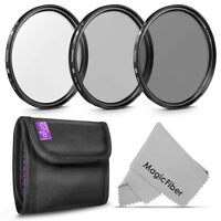 77mm UV CPL Polarizer ND 4 Neutral Density Lens Filter Kit for Canon Nikon DSLR