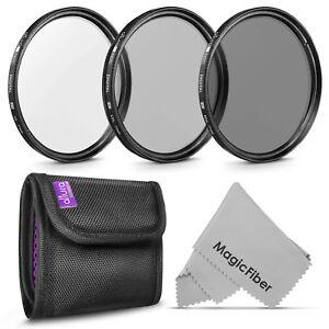 77mm UV CPL Polarizer ND 4 Neutral Density Lens Filter Kit for Canon Nikon DSLR