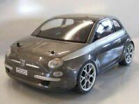 Carrozzeria  body RC scala 1/8 FIAT 500 NUOVA + alettone + adesivi