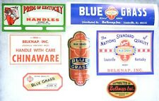 7 BELKNAP BLUE GRASS Louisville KY NOS Product Unused Company LABELS Collection