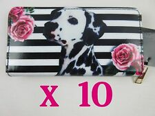 JOB LOT 10 OLIENA PURSES WITH DALMATIAN DESIGN 19CM 10 FOR ONLY £18.50 FREE P&P