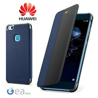 Custodia Originale Per Huawei P10 LITE Smart Cover View BLU Flip Case Ultra Slim
