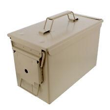 50 Cal Ammo Storage Ammo Holder 1-Pack in Tan – Metal Ammo Box Gun Ammo Box