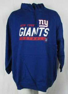 New York Giants Men's Blue Majestic Screen Print Pullover Hoodie NFL 5XL