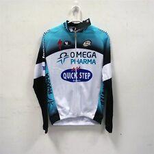 Vermarc Omega Pharma Quick Step T6001 Long Sleeve Jersey Blue Black White Size L