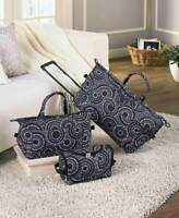 3 Pc Luggage Set Rolling Duffel Tote Toiletry Bag Cosmetic Case Travel 3 Designs
