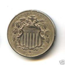 USA ETATS-UNIS 5 CENTS SHIELD NICKEL 1867