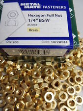 "50 No 1/4"" WHITWORTH, BSW, BRASS, FULL NUTS."