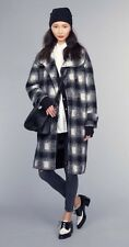Banana Republic Plaid Double-Breasted Cocoon Wool Coat szM NWT$348 #672243