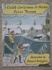 CHILD'S CHRISTMAS IN WALES~Dylan Thomas~EDWARD ARDIZZONE~1996 PB~Welsh Town~