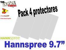 "Pack 4 Protectores de pantalla para Tablet Hannspree 9.7"" SN97T41W 9.7 pulgadas"