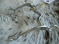 """Chrome Plated 5"""" Medium Port Mouth Engraved Cheeks Horse Bit New Tack"""