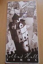 Reiseprospekt Österreich Solbad Hall in Tirol ,12 Seiten um 1940