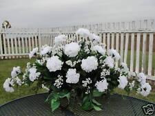 St Patricks Cemetery Memorial Flower Green White Carnation Babys Breath Funeral