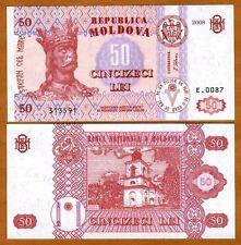 Moldova, 50 Lei, 2008, ex-USSR, P-14e, UNC
