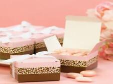 50 NEW Floral Stripe Wedding Favor Boxes
