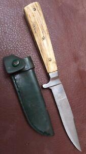Altes   Jagdmesser Horngriff mit Lederscheide