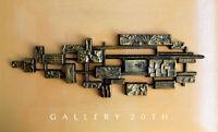 WOW! BRUTALIST ABSTRACT WALL ART SCULPTURE! MID CENTURY MODERN ATOMIC VTG 1960S