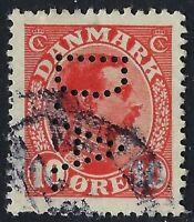 Denmark Perfin D05 -D.A.: Dansk Assurance Kompagni A/S (1916-21), RF: 30