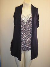 Lovely Navy Blue & Floral Mock Front Top from Dorothy Perkins - Size 10 - BNWOT!