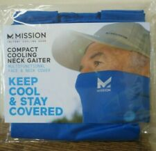 New! MISSION Compact Cooling Neck Gaiter Face/Neck Cover/Mask - BLUE