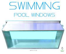 Swimming Pool Window - Stainless Frame & Glass - For Blockwork Pools - AG Ltd