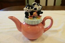 Pepe Le Pew and Penelope Tea Pot Warner Brothers Studio Store Looney Tunes