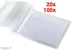 Laminierfolien für Visitenkarten 60 x 90 mm 100 micron *