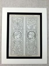 More details for 1890 print pre raphaelite brass door finger plates victorian architecture
