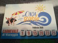 Cartolina CARNEVALE VIAREGGIO 2019 burlamacco estate Cittadella postcard 2020