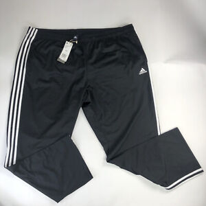 Adidas Original 3 Stripe Black White Essential Track Pants Men Size 4XL BK7402