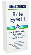 3X $19.50 Life Extension Brite Eyes III 2 vials (5 ml each) dry eyes drops NAC