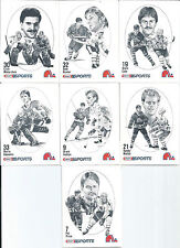Quebec Nordiques  Clint Malarchuk  86/87 Canadian Kraft Drawings  7-Lot