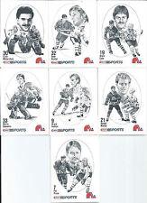 Quebec Nordiques  Clint Malarchuk  86/87 Canadian Kraft Drawings  7-Lot