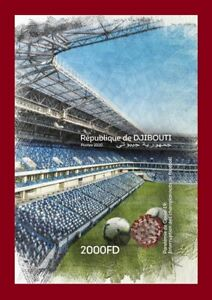 DJIBOUTI 2020 - IMPERF SHEET SOCCER FOOTBALL LEAGUES INTERRUPTION PANDEMIC - MNH