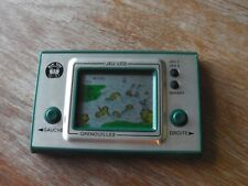 """Lcd game Publicitaire Bik Toy """" Grenouilles """" game watch"""
