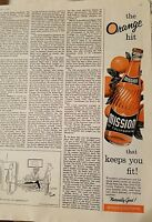 1956 Mission orange soda of California bottle keeps you fit ad