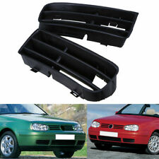 Par De Lámpara Luz Antiniebla Delantera Parachoques Cubierta Bisel Inferior Rejillas Para VW Golf MK4 98-06