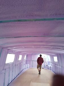 Canal boat insulation/spray foam insulation Boat/Campervan