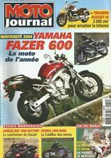 MOTO JOURNAL N°1579 YAM FAZER 600  / TRIUMPH ROCKETT III / APRILIA RSV 1000 FACT