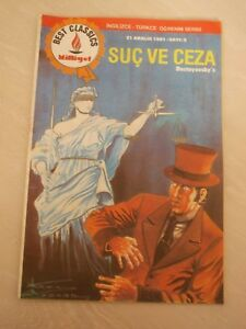 Dostoyevsky - Crime And Punishment  classics illustrated TURKISH RARE TURKEY